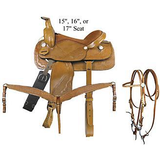 Pecos 6-Piece Roper Saddle Package