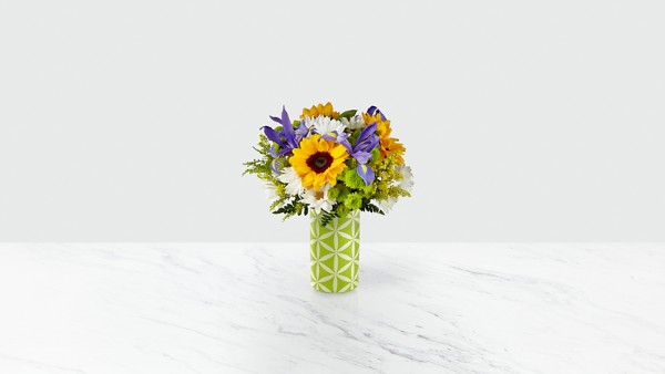 Sunflower Sweetness™ Bouquet-VASE INCLUDED - Thumbnail 1 Of 2