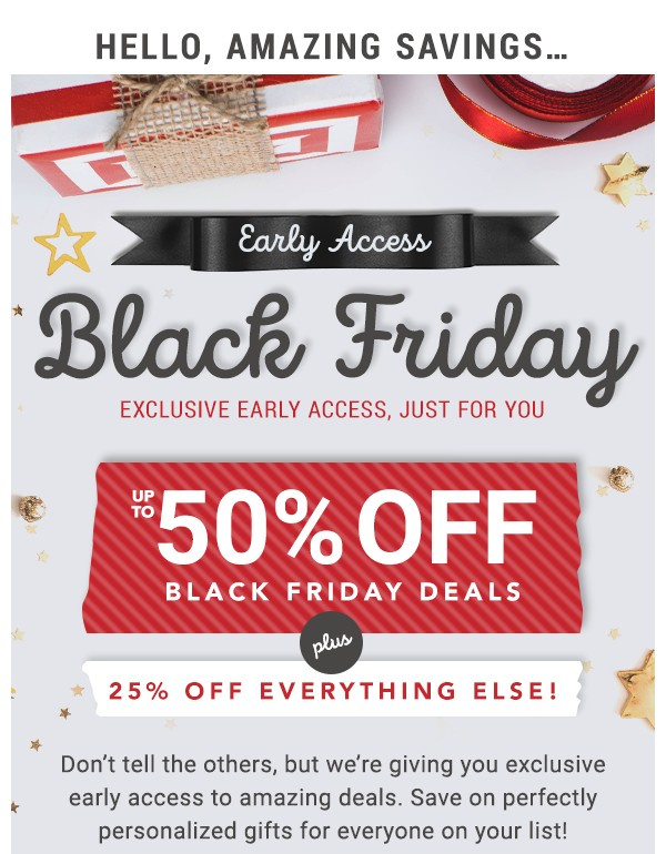 Early Access Black Friday.