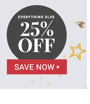 Plus 25% off Everything else!