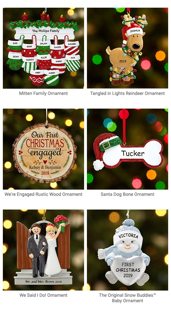 Keepsake ornaments to treasure.