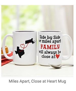 Miles Apart. Close a Heart Mug