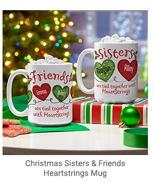 Christmas Sisters & Friends Heartstrings Mug