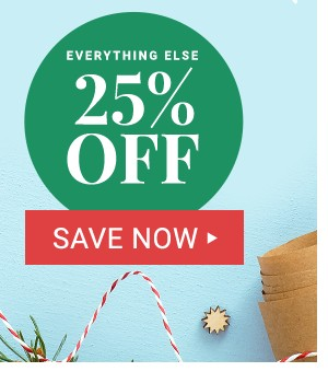 25% Off Everything Else