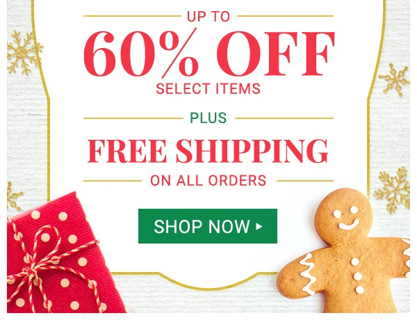 Up to 60% off Green Monday Sale plus Free Shipping. Shop Now