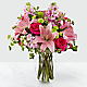 Pink Posh™ Bouquet- VASE INCLUDED - Thumbnail 1 Of 2