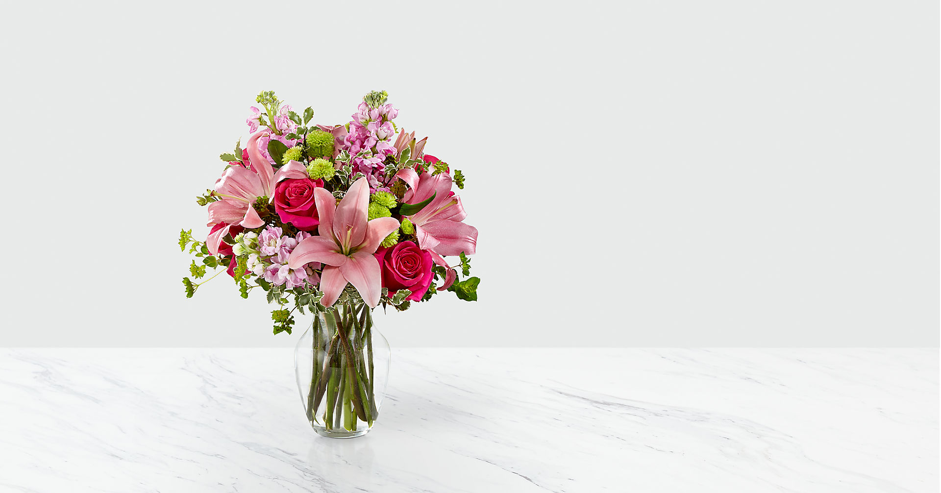 Pink Posh™ Bouquet- VASE INCLUDED - Image 1 Of 2