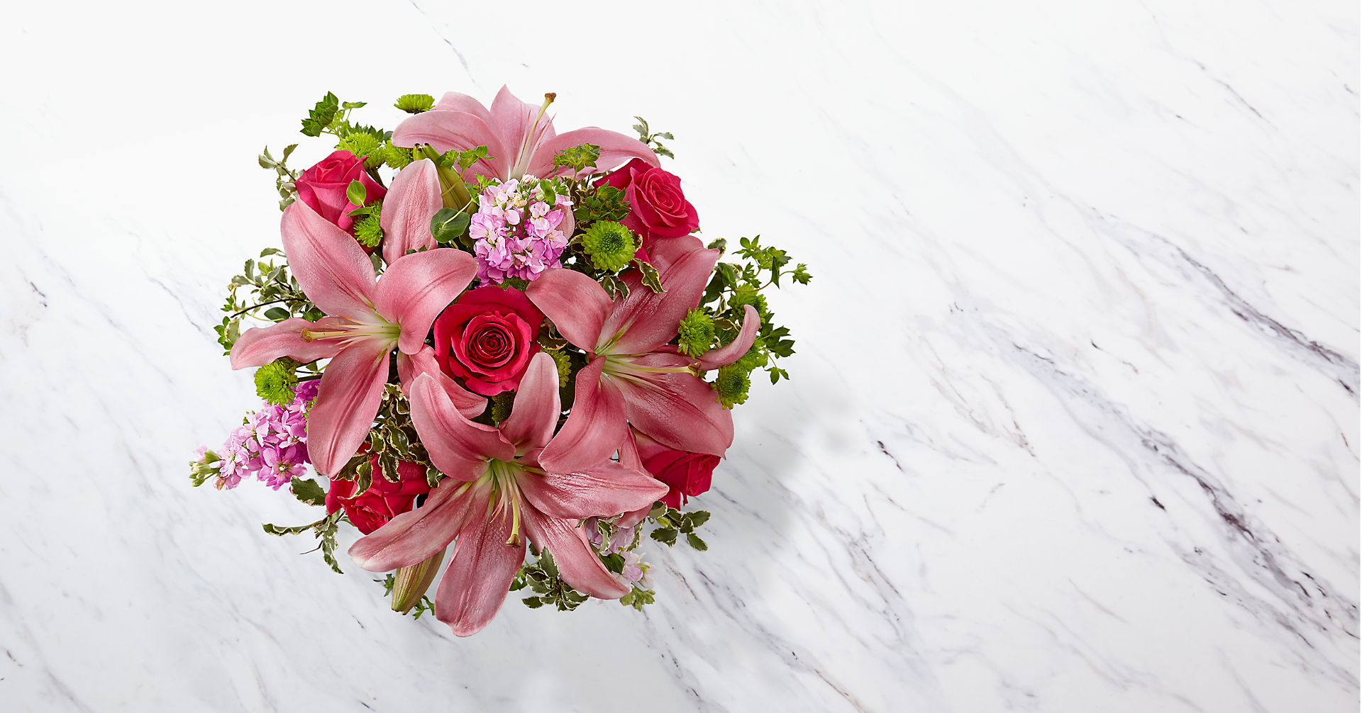 Pink Posh™ Bouquet- VASE INCLUDED - Image 2 Of 2