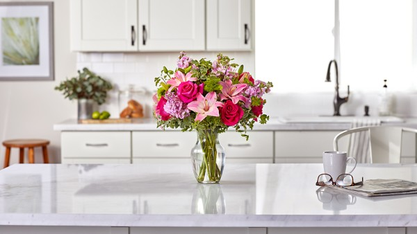 Pink Posh™ Bouquet- VASE INCLUDED - Thumbnail 4 Of 4