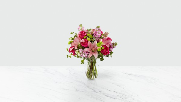 Pink Posh™ Bouquet- VASE INCLUDED - Thumbnail 1 Of 4