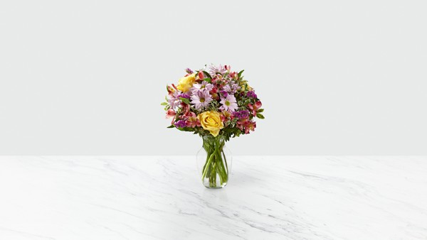 True Charm™ Bouquet- VASE INCLUDED - Thumbnail 1 Of 2