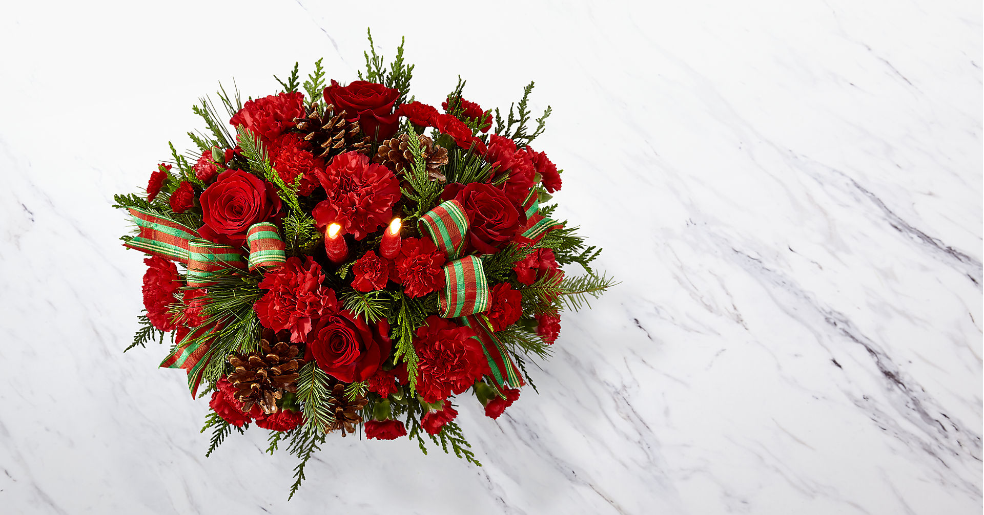 The FTD® Holiday Classics™ Centerpiece - Image 2 Of 3