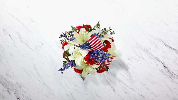 American Glory™ Bouquet - BASKET INCLUDED - Thumbnail 2 Of 2