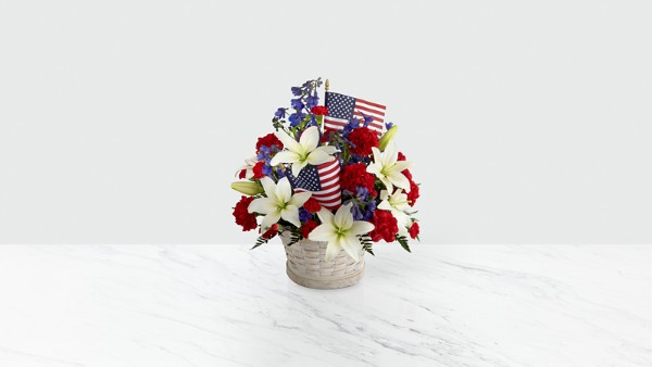 American Glory™ Bouquet - BASKET INCLUDED - Thumbnail 1 Of 3