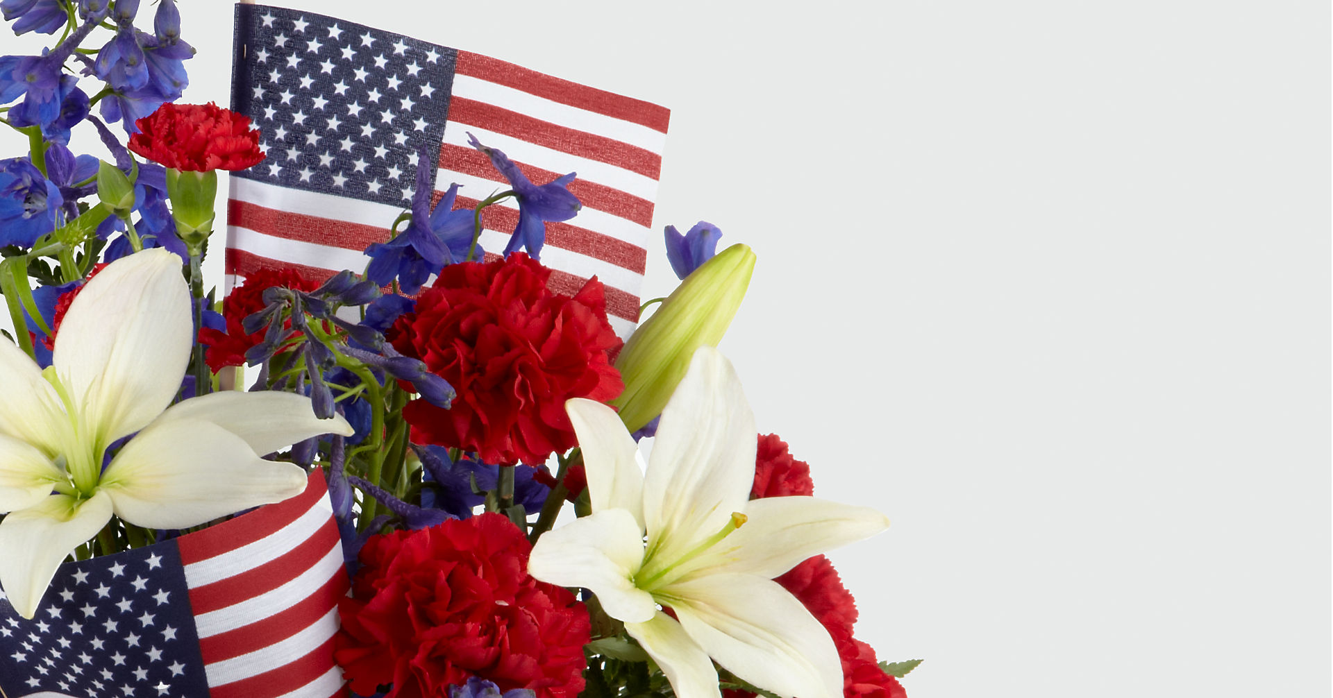 American Glory™ Bouquet - BASKET INCLUDED - Image 3 Of 3