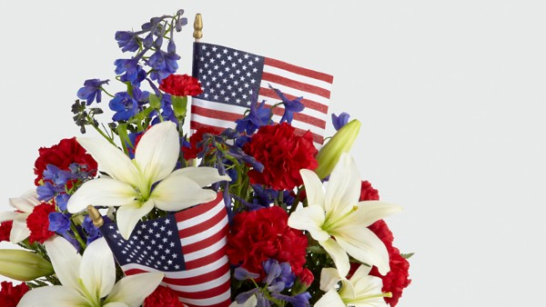 American Glory™ Bouquet - BASKET INCLUDED - Thumbnail 3 Of 3