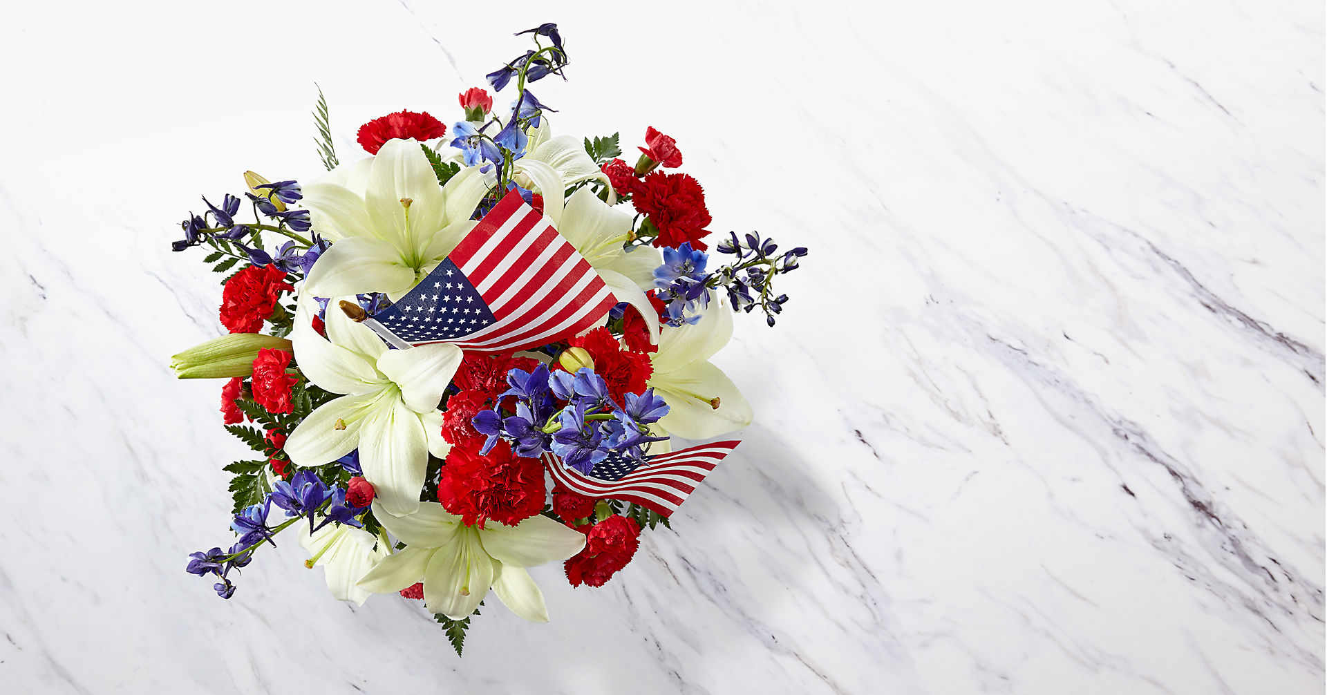 American Glory™ Bouquet - BASKET INCLUDED - Image 2 Of 3