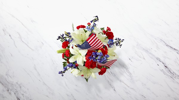 American Glory™ Bouquet - BASKET INCLUDED - Thumbnail 2 Of 3