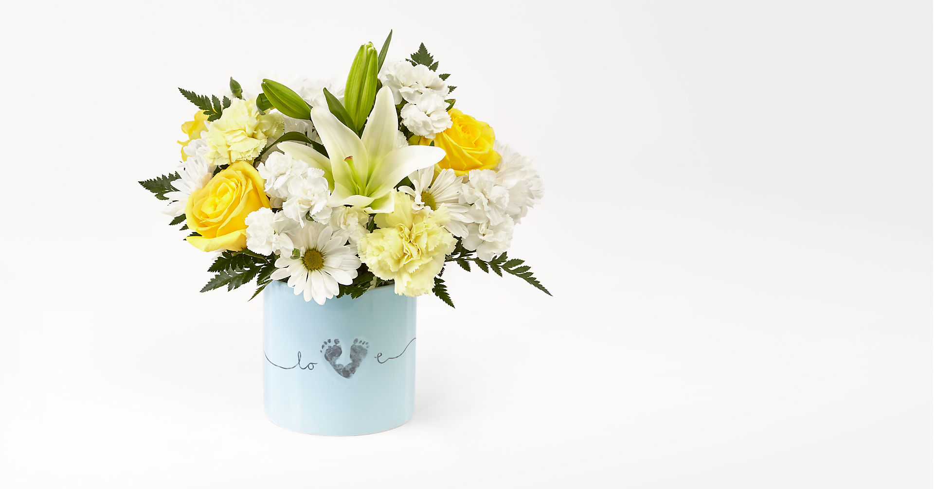 Tiny Miracle™ New Baby Boy Bouquet - VASE INCLUDED - Image 1 Of 2