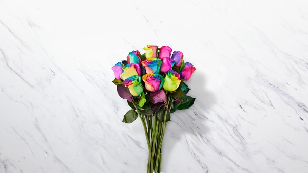 Time to Celebrate Rainbow Rose Bouquet - Thumbnail 1 Of 3