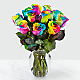 Time to Celebrate Rainbow Rose Bouquet - Thumbnail 2 Of 4