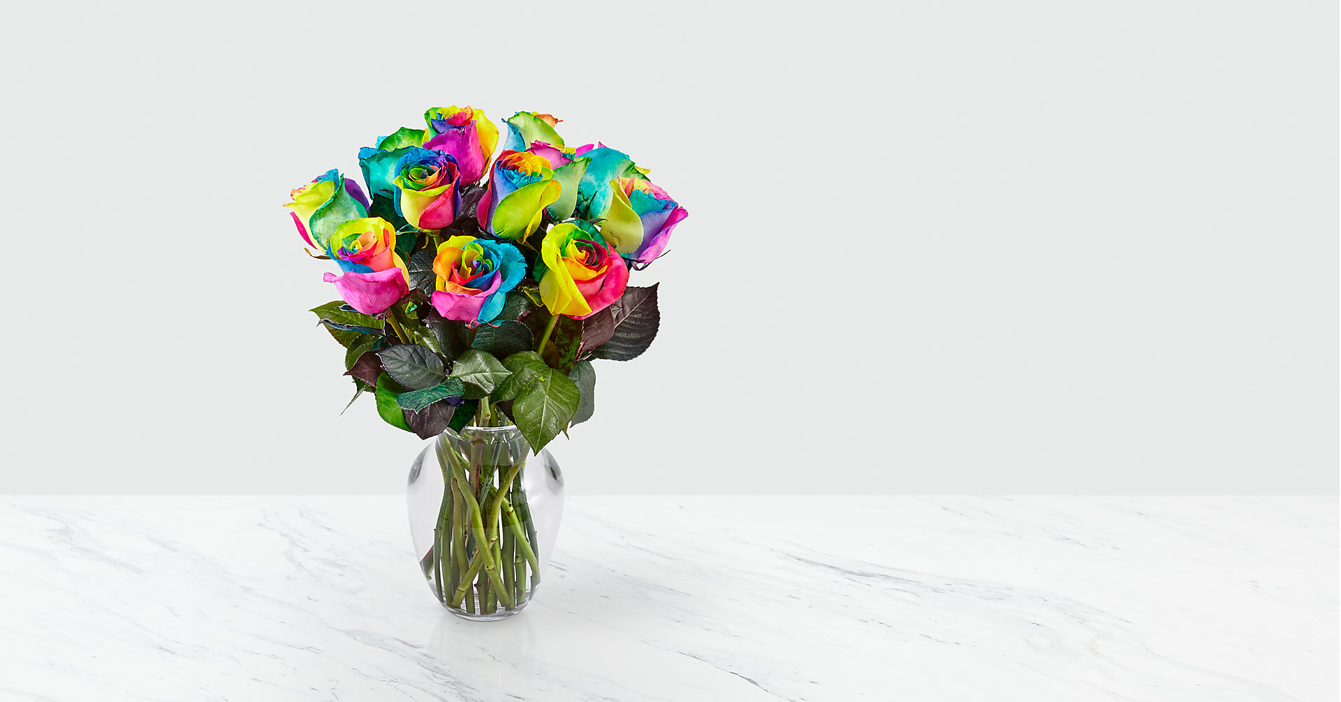 Time to Celebrate Rainbow Rose Bouquet - Image 2 Of 4