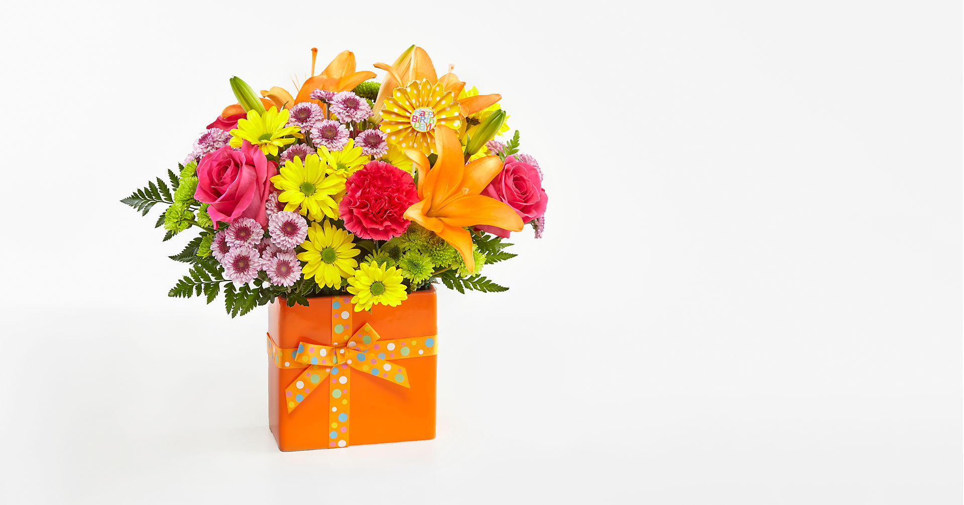 Set to Celebrate™ Birthday Bouquet - VASE INCLUDED - Image 1 Of 3