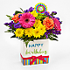 Birthday Brights™ Bouquet - VASE INCLUDED - Thumbnail 1 Of 4