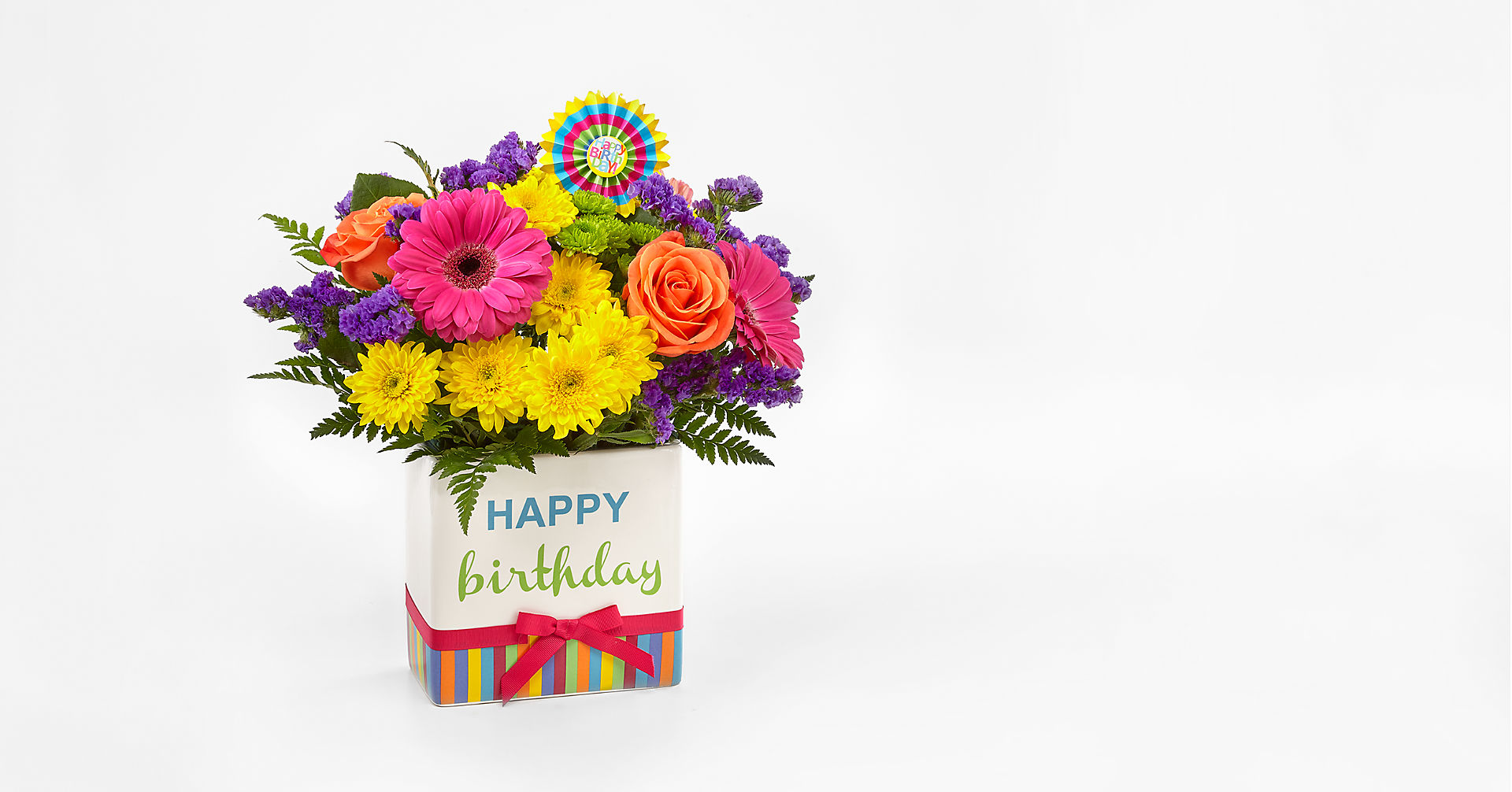 Birthday Brights™ Bouquet - VASE INCLUDED - Image 1 Of 4