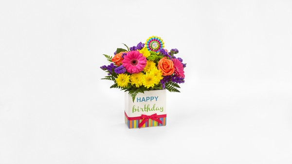 The FTD® Birthday Brights™ Bouquet - VASE INCLUDED