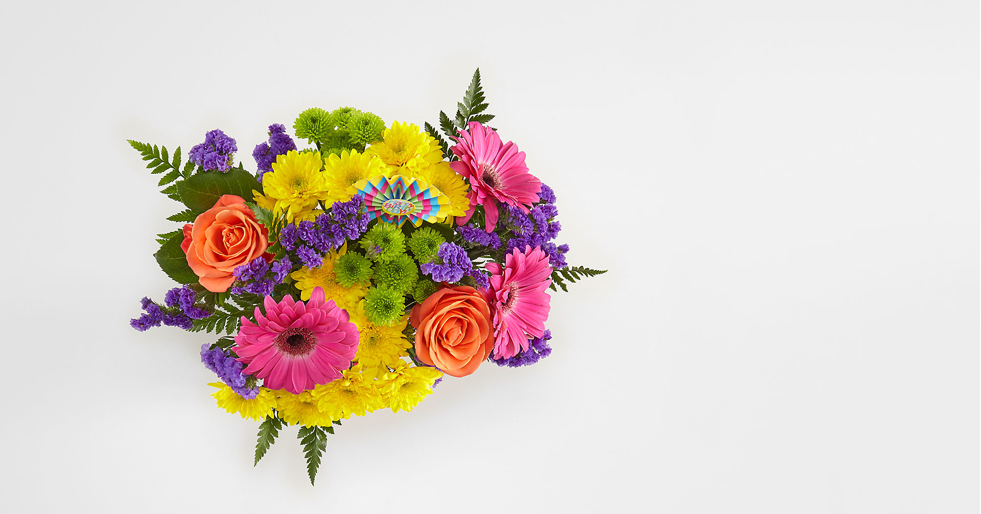 Birthday Brights™ Bouquet - VASE INCLUDED - Image 2 Of 4