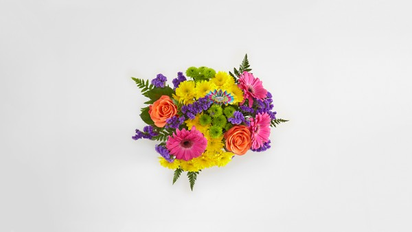 Birthday Brights™ Bouquet - VASE INCLUDED - Image 2 Of 2