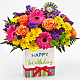 Birthday Brights™ Bouquet - VASE INCLUDED - Thumbnail 1 Of 2
