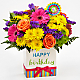 Birthday Brights™ Bouquet - VASE INCLUDED - Thumbnail 1 Of 5