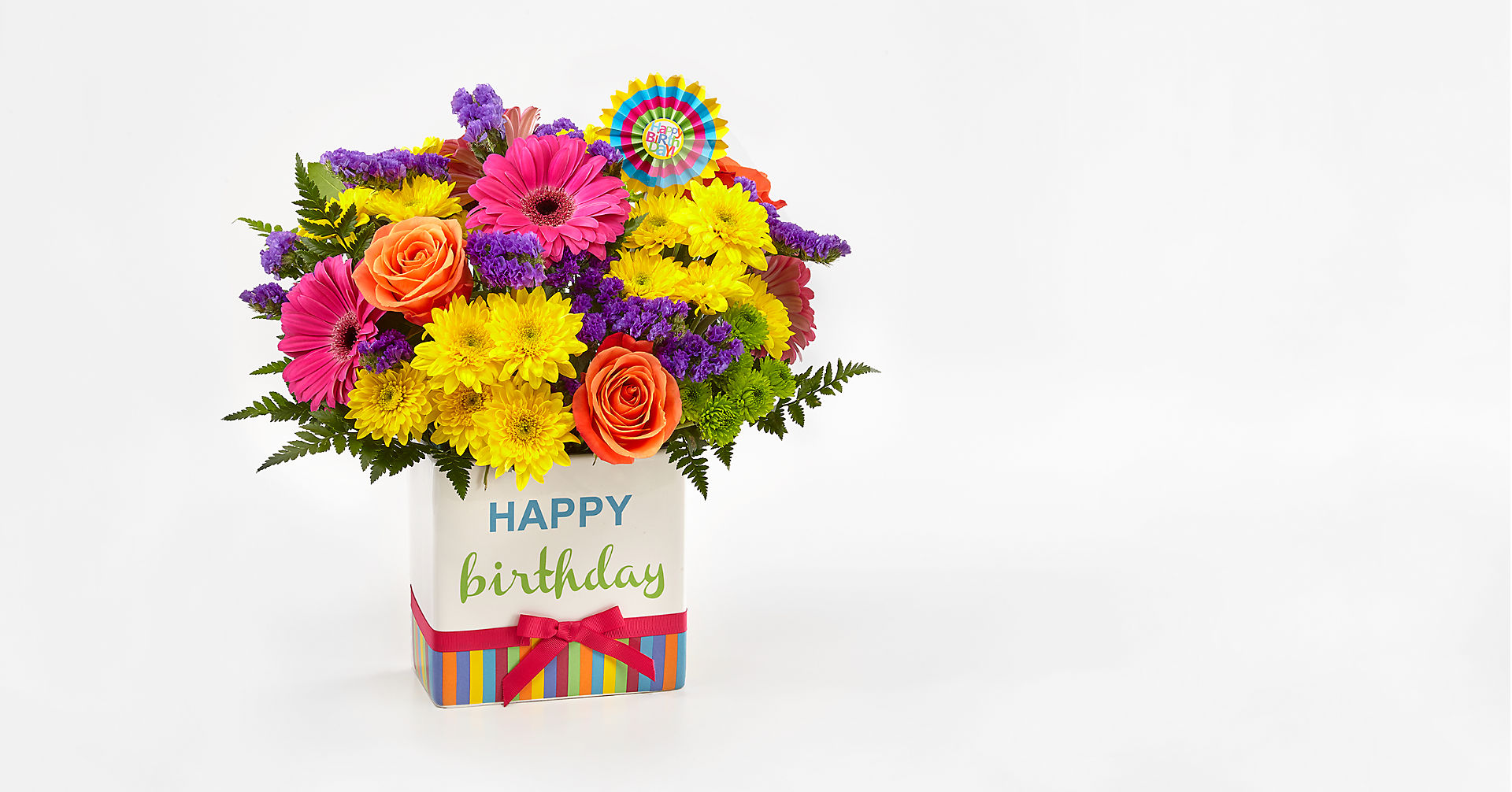 Birthday Brights™ Bouquet - VASE INCLUDED - Image 1 Of 5
