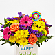 Birthday Brights™ Bouquet - VASE INCLUDED - Thumbnail 3 Of 5