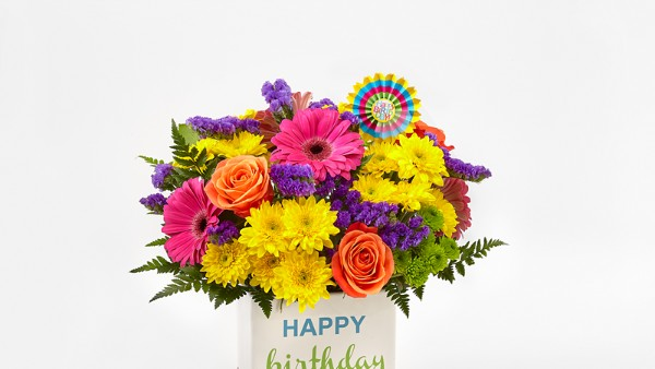 Birthday Brights™ Bouquet - VASE INCLUDED - Thumbnail 3 Of 3