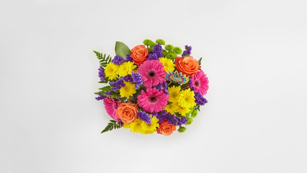 Birthday Brights™ Bouquet - VASE INCLUDED - Thumbnail 2 Of 3