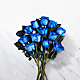 Extreme Blue Hues Fiesta Rose Bouquet - 12 Stems - VASE INCLUDED - Thumbnail 2 Of 2