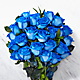 Extreme Blue Hues Fiesta Rose Bouquet - 24 Stems - VASE INCLUDED - Thumbnail 2 Of 2