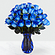 Extreme Blue Hues Fiesta Rose Bouquet - 24 Stems - VASE INCLUDED - Thumbnail 1 Of 2