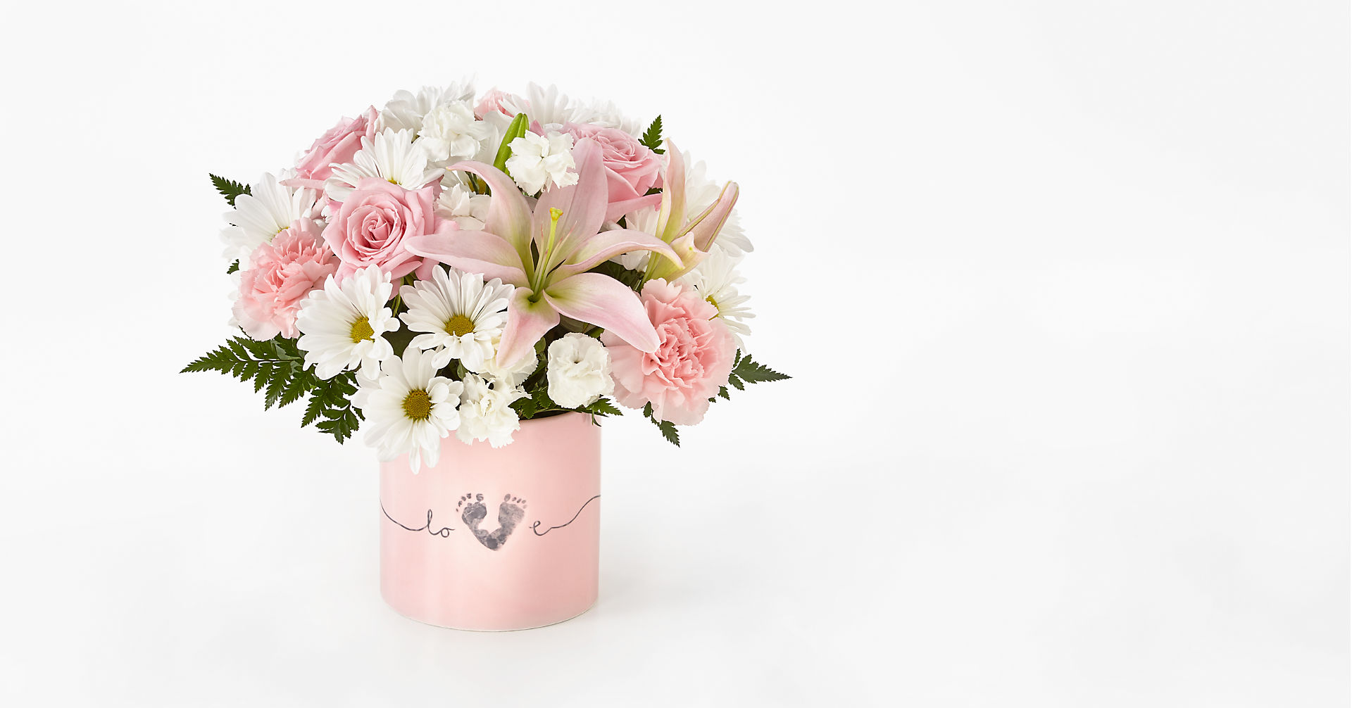 Tiny Miracle™ New Baby Girl Bouquet - VASE INCLUDED - Image 1 Of 3