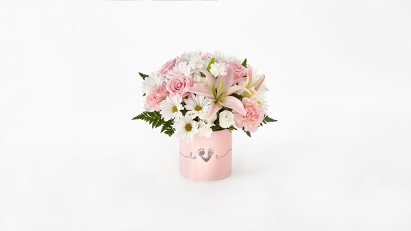 Tiny Miracle™ New Baby Girl Bouquet - VASE INCLUDED - Image 1 Of 2