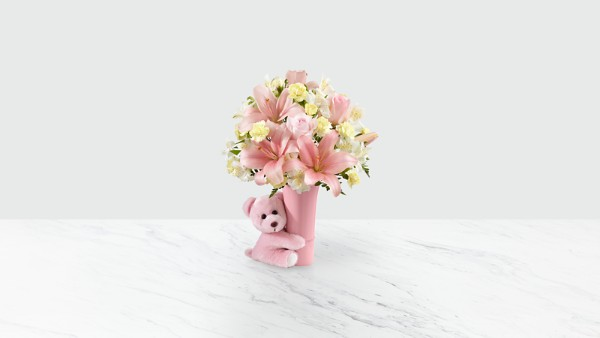The Baby Girl Big Hug® Bouquet - VASE INCLUDED
