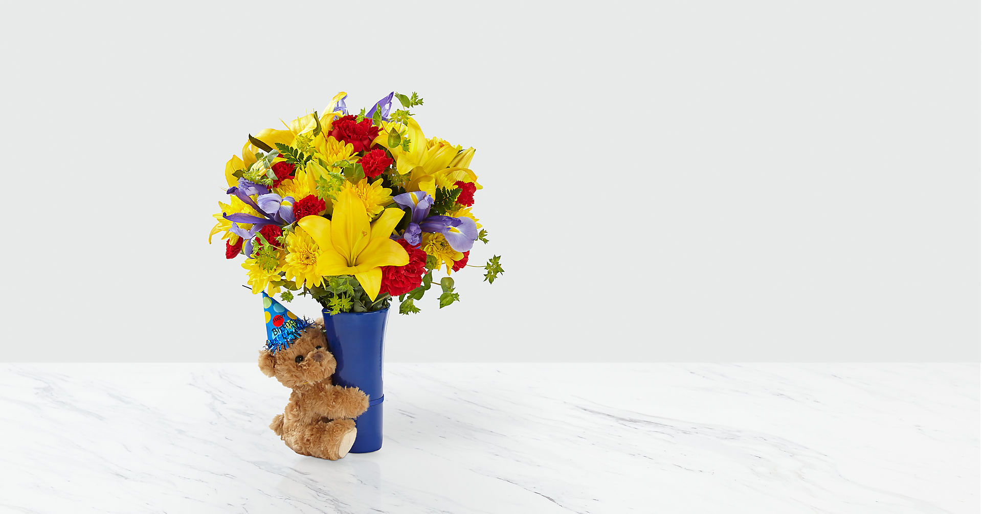 Big Hug® Birthday Bouquet - VASE INCLUDED