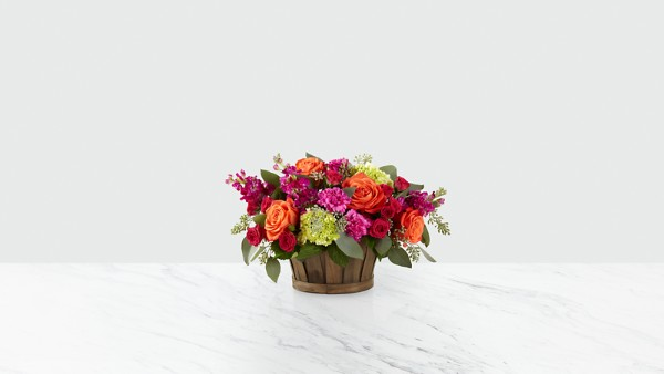 New Sunrise™ Bouquet - BASKET INCLUDED - Image 1 Of 2