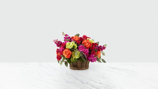 New Sunrise™ Bouquet -BASKET INCLUDED - Image 1 Of 2