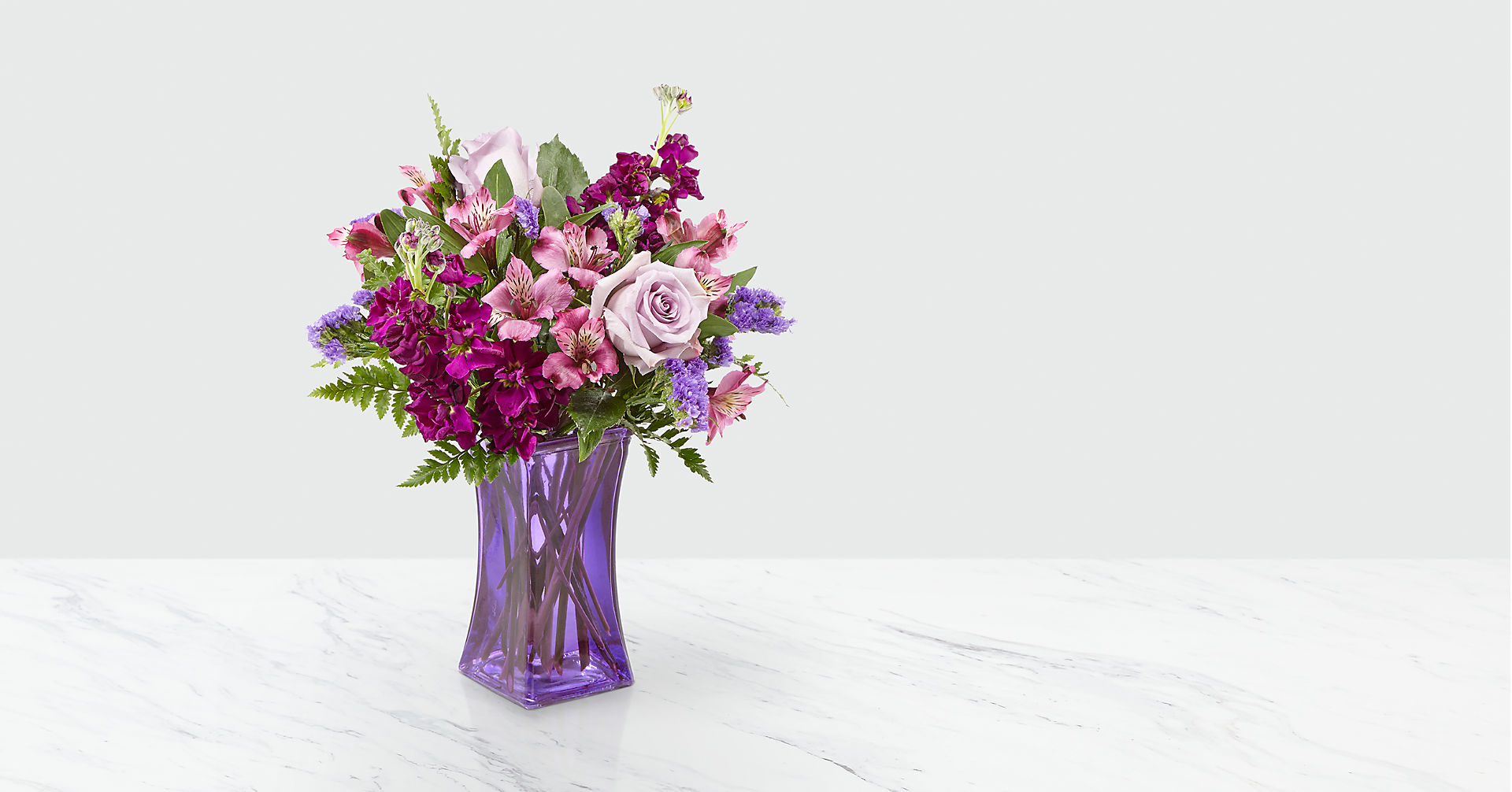 Purple Presence™ Bouquet- VASE INCLUDED