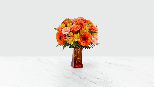 Orange Essence™ Bouquet- VASE INCLUDED - Thumbnail 1 Of 2