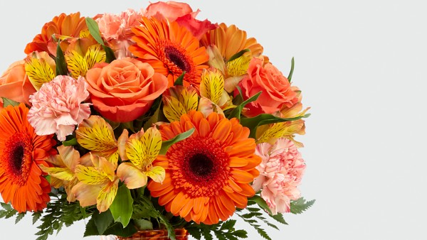 Orange Essence™ Bouquet- VASE INCLUDED - Thumbnail 2 Of 2